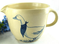Pair of Vintage Geese Crock Cream Pitchers Farmhouse Crockery - ChaseyBlueVintage