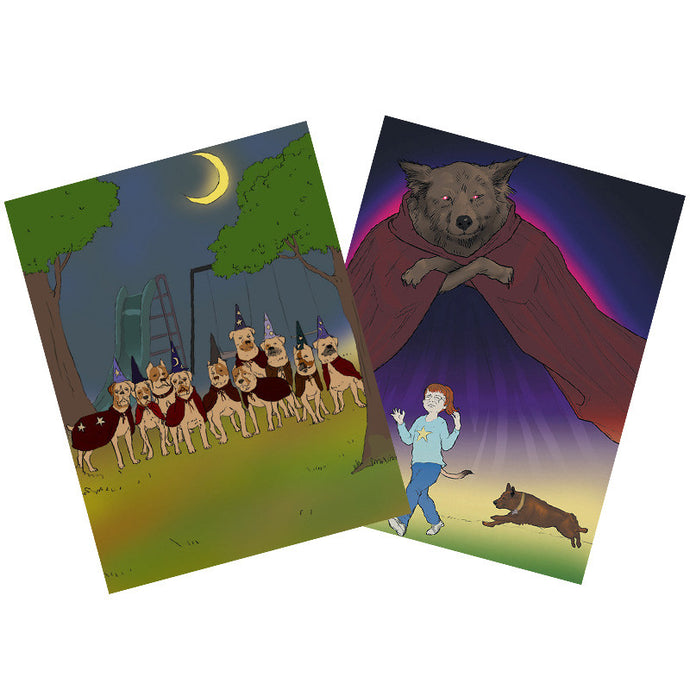 The Wizard's Kids and The Dirty Dog Wizard Posters