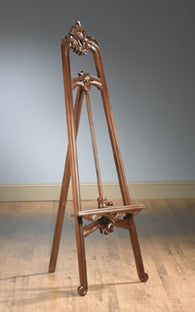 4 feet Wooden Mahogany Finish Victorian Easel