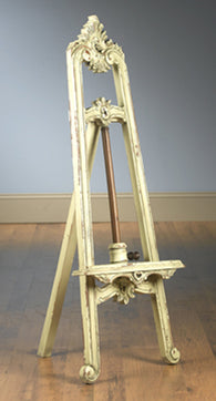 4 feet tal Wooden Rust White Finish Victorian Easel