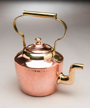 Copper Kettle, Large with Brass Handle