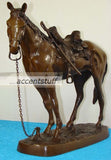 Solid Bronze Horse n Saddle Statue Sculpture Art