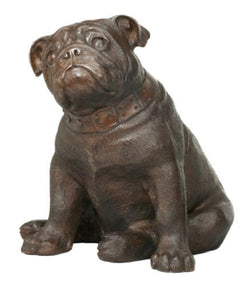 Solid BRONZE PUG Dog SITTING statue sculpture figurine