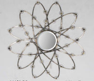 Decorative Swiveled Metal Round Atomic Art Deco Wall Mirror