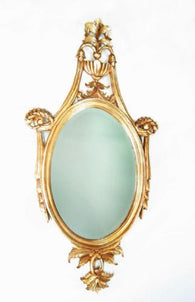 Solid Mahogany Paris Oval Beveled Mirror