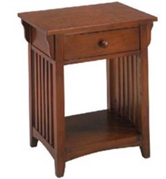 Set of 2 Canyou Lack Wooden Nightstand end table with drawer