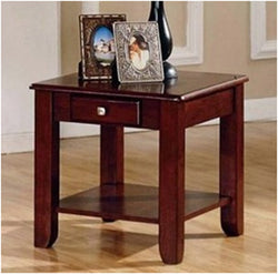 Nelson Wood cherry color End Table W drawer
