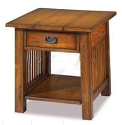 New Style Antique Wood End Table W drawer