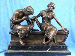 Huge 47 Lbs Bronze Lover Kiss Woman & Man Statue