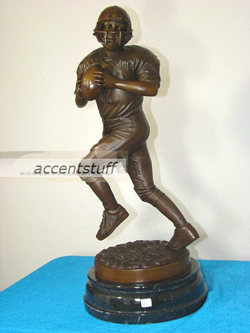 Bronze Statue Boy Quarterback US Football Sculpture Art