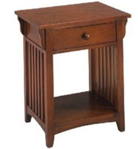 Canyou Lack Wooden Nightstand End Table w/ Drawer