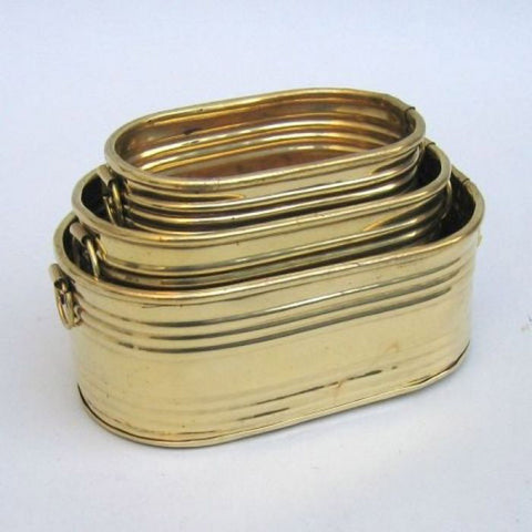 Brass Planter Oblong Set