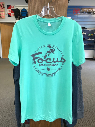 Focus Boardshop Skate Local Tee Tri-blend Mint