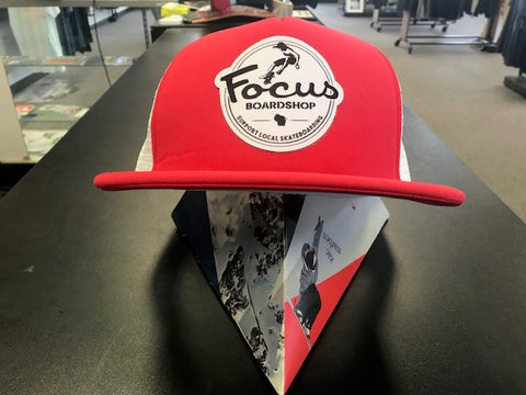 Focus Skate Local Foam Mesh Trucker Cap Red & White