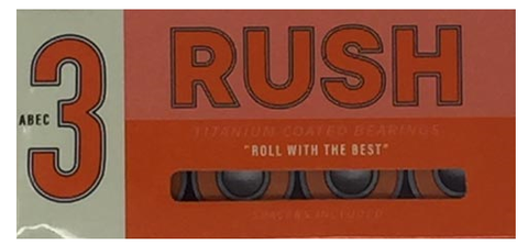 Rush ABEC 3 Skateboard Bearings