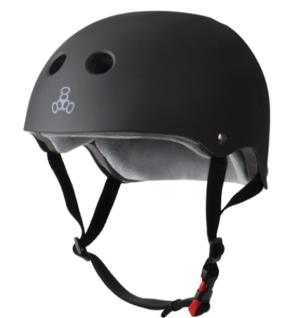 Triple 8 Certified Sweatsaver Helmet Black Rubber