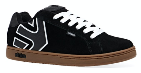 Etnies Fader Shoes Black White Gum