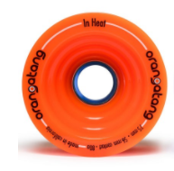 Orangatang In Heat Orange Longboard wheels