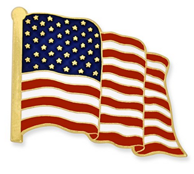 American Flag Pin | Proudly Made in USA