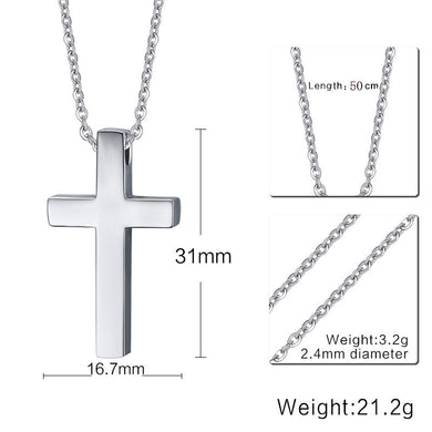 Classic Cross Necklace | Stainless Steel