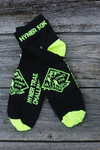 *Hyner Challenge 50k Trail Socks - charcoal/yellow