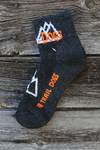 PA Trail Dogs Mid-Cut Mountain Socks - charcoal/orange