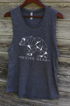 ReVibe women's trail bear muscle tee - grey
