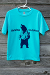 ReVibe Outdoors Mountain Bear kids' shirt - surf blue