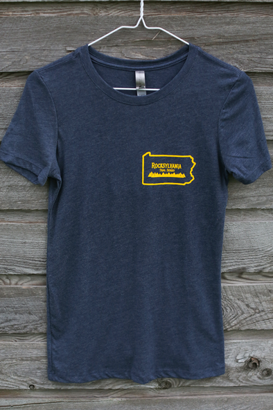 2019 Rocksylvania Trail Series shirt - Women's tri-blend navy