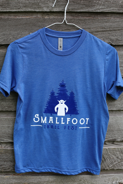 Smallfoot Trail Fest youth shirt - royal blue