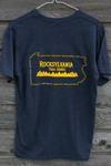 2019 Rocksylvania Trail Series shirt - Men's tri-blend navy