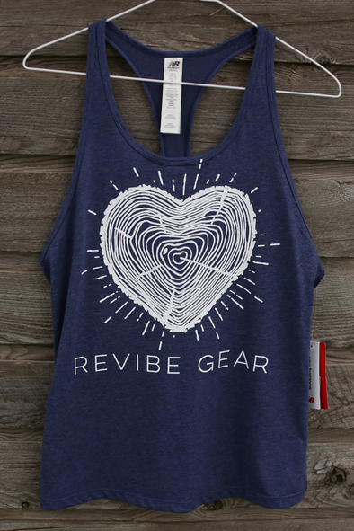 ReVibe women's forest heart tank - violet