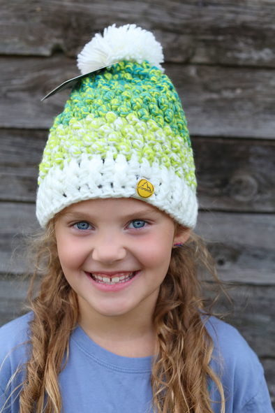 Grasshopper Winter Pom Hat (Adult-sizes)