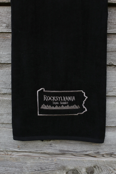 Rocksylvania embroidered trail to beach towel