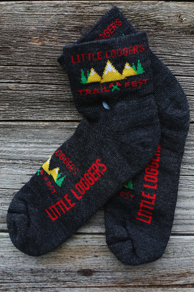 Little Loggers Trail Fest Socks - grey
