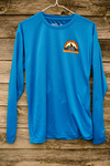 Wilds Mountain Fest 25k Men's Blue long sleeve tech shirt