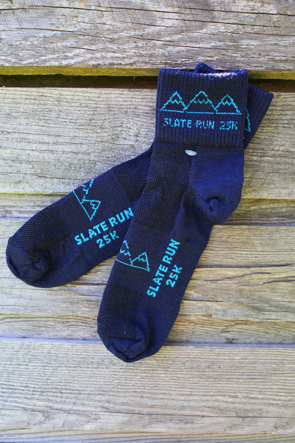 Slate Run Trail Socks - navy