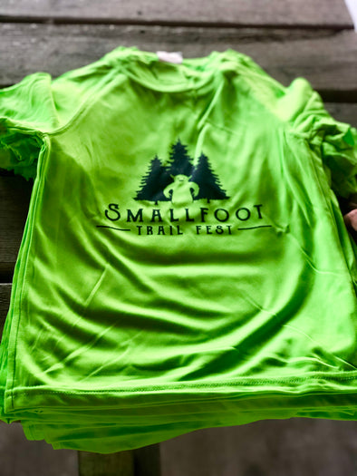 Smallfoot Trail Fest tech race shirt - green