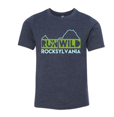 Run Wild Rocksylvania shirt - youth dark