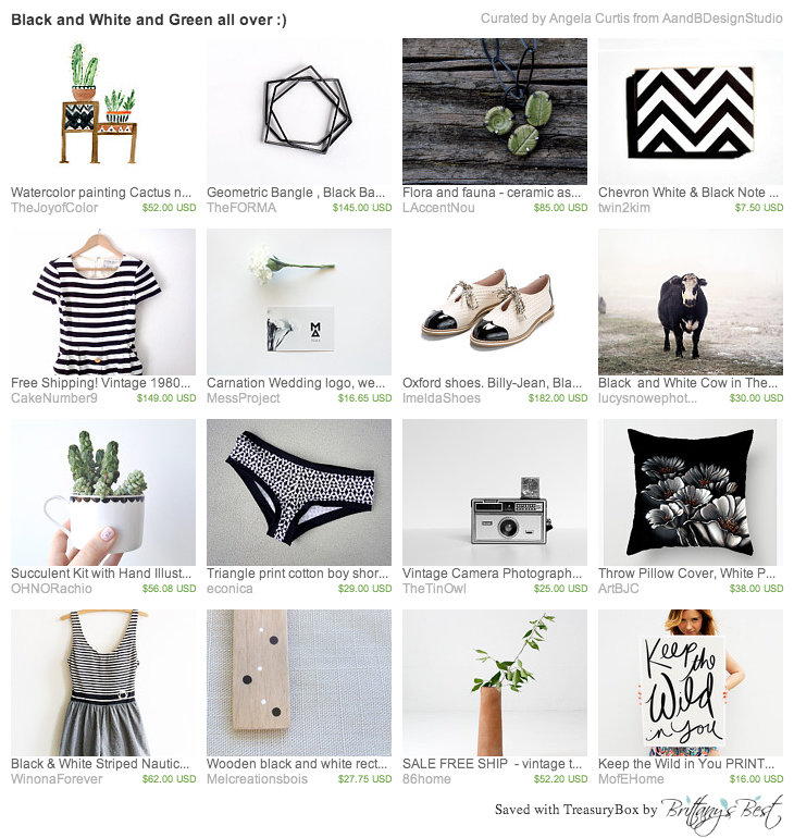 black-and-white-and-green-all-over