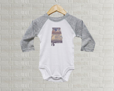 Alabama Baby Onesie | Romper | Vintage License Plate Art