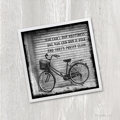 Magnet - Bicycle Happiness Quote