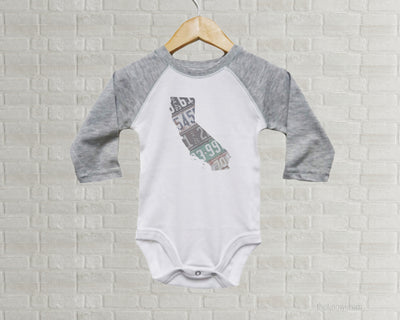 California Baby Onesie | Romper | Vintage License Plate Art