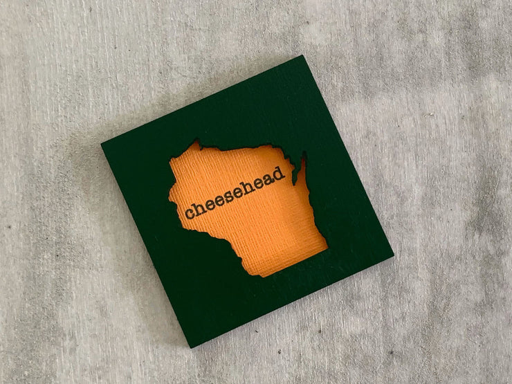 Wisconsin Cheesehead Green Bay Packers Art Magnet