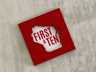 Wisconsin Badgers Football Art Magnet - First and 10 Wisconsin
