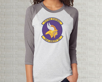 Adult Raglan T-Shirt - Flying Vikings