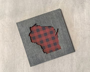 Wisconsin Buffalo Plaid Art Magnet