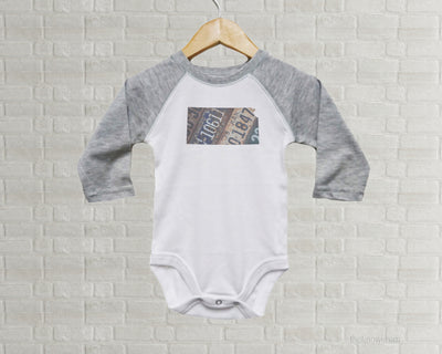Kansas Baby Onesie | Romper | Vintage License Plate Art