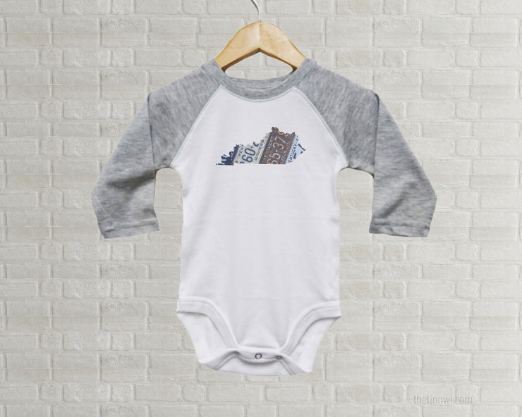 Kentucky Baby Onesie | Romper | Vintage License Plate Art