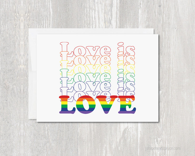Greeting Card - Love is Love